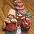 "Carolers Christmas tree Ornament (or free standing figure), ceramic/porcelain, 3.25"" tall"