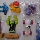 Fast food figure toy assortment - Atlantis, Tick, Two-face, Marvin the Martian, more