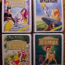 FOUR Walt Disney figures - Sleeping Beauty, Simba, Bambi, Tigger, McDonalds MIP 1996