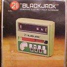 Cordless Electric Black Jack (blackjack) 21 card game machine, battery operated, 1972, NMIB