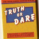 Truth or Dare card game by University Games, travel version, Complete, NMIB, 1988