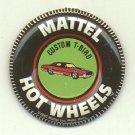 Original 1967 Mattel Hot Wheels Custom T-Bird metal pin button, EX, tab intact