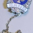 1990 school Band pin with chain