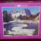 Winter in the Mountains 500 piece jigsaw puzzle, factory sealed, complete, 15.5x18 Whitman