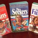 3 John Jakes paperback novels - Bicentennial series - Furies, Titans, Seekers