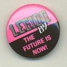 "Legion '89 comic book promo pin button, mint, 1"" diameter, DC comics Legion of Super-heroes, LSH"