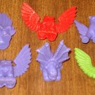 assortment of 6 Gargoyles, birds, winged creatures - what are these? MBR, undated