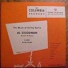 "Al Goodman Orchestra: Music of Irving Berlin 10"" LP record album, 1950's VG"