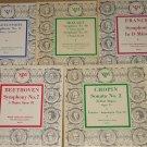 "5 Classical music 10"" LP record albums, 1950's, Chopin, Mozart, Betthoven, Franck, Mendelssohn"