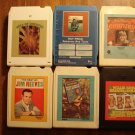 Country Music 8-track tapes assortment #2, 6 tapes - Ray Price, Anne Murray, Jim Reeves, MORE!