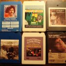 Country Music 8-track tapes assortment #7, 6 tapes - Jerry Lee Lewis Glen Campbell Tom T. Hall, MORE