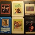 Country Music 8-track tapes assortment #13, 6 tapes Glen Campbell Donna Fargo Mickey Gilley MORE