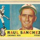 1960 Topps baseball card #311 Raul Sanchez, Good (creases) Cincinnati Reds
