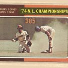 1975 Topps baseball card #460 1974 NL Championships EX