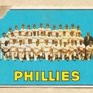 1967 Topps baseball card #102 Philadelphia Phillies team - Poor