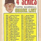 1967 Topps baseball card #278 4th Series Checklist VG (marked, but in nice shape)