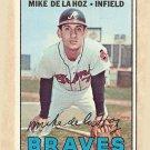 1967 Topps baseball card #372 Mike De La Hoz VG/EX Atlanta Braves