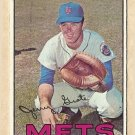 1967 Topps baseball card #413 (B) Jerry Grote VG (grass is off-color too) New York Mets