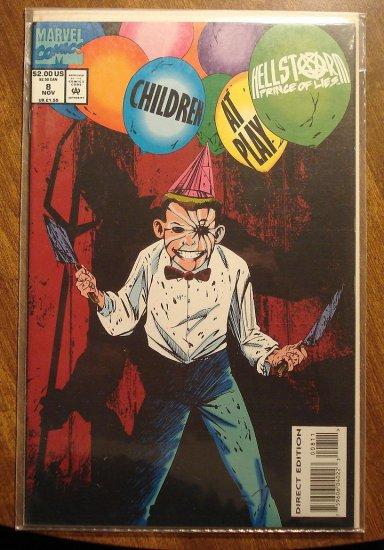 HellStorm prince of Lies #8 comic book - Marvel comics