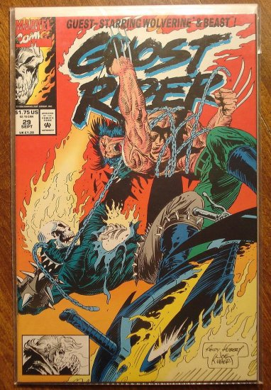 Ghost Rider #29 comic book - Marvel comics - w/ Wolverine!