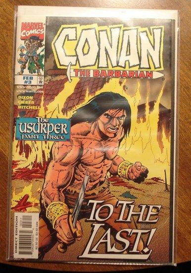 Conan The Barbarian: The Unsurper #3 comic book - Marvel comics