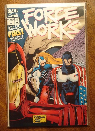 Force Works #1 comic book - Marvel Comics - pop-up fold-out cover