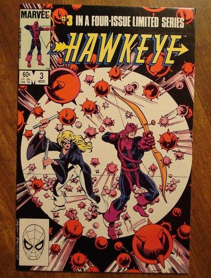 Hawkeye #3 (1983 mini series) comic book - Marvel Comics