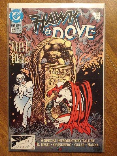 Hawk & Dove #26 (1980's series) comic book - DC Comics