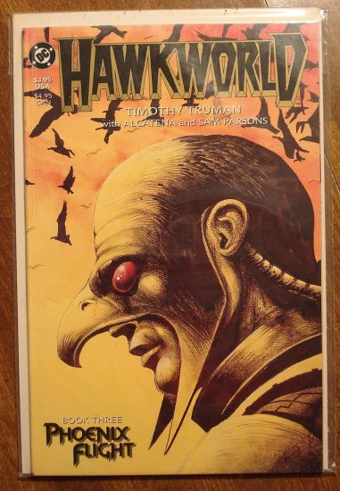 Hawkworld deluxe format mini series #3 comic book - DC Comics - Tim Truman