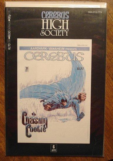 Cerebus - High Society (reprint series) #6 comic book - Dave Sim - Aardvark-Vanaheim