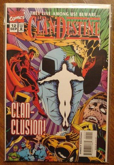 Clandestine #12 comic book - Marvel comics