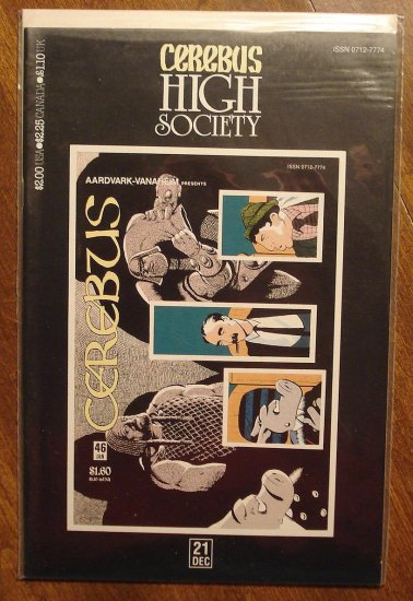 Cerebus - High Society (reprint series) #21 comic book - Dave Sim - Aardvark-Vanaheim