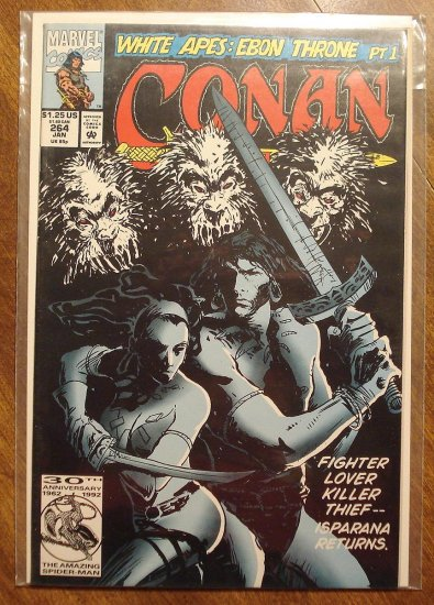 Conan The Barbarian #264 comic book - Marvel comics