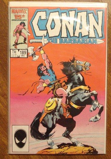 Conan The Barbarian #189 comic book - Marvel comics
