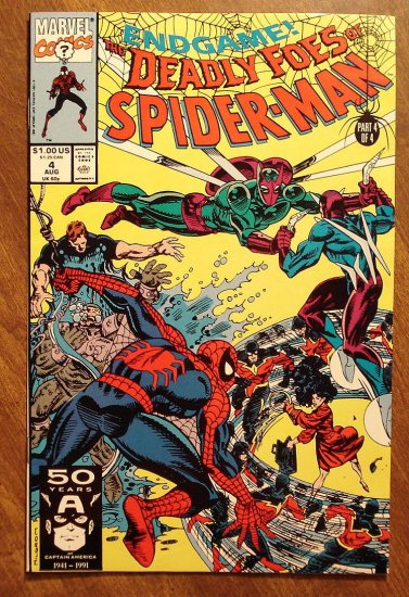 The Deadly Foes of Spider-Man (spiderman) #4 comic book - Marvel Comics