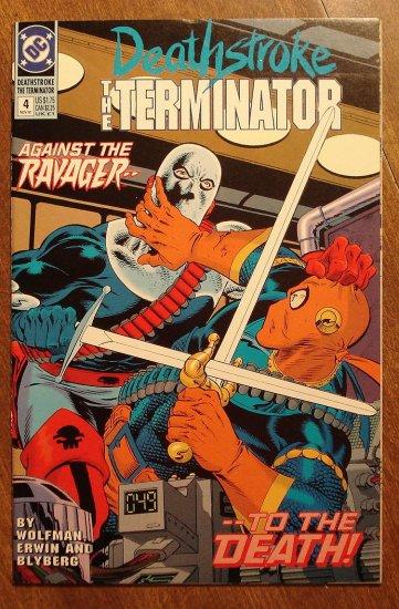 Deathstroke the Terminator #4 comic book - DC Comics