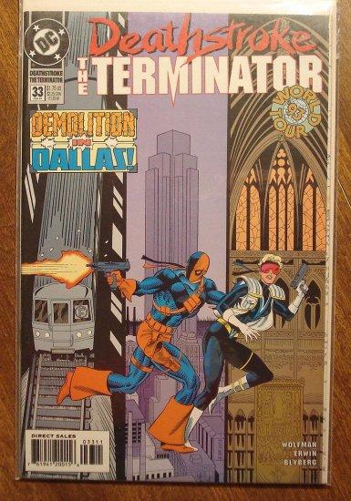 Deathstroke the Terminator #33 comic book - DC Comics