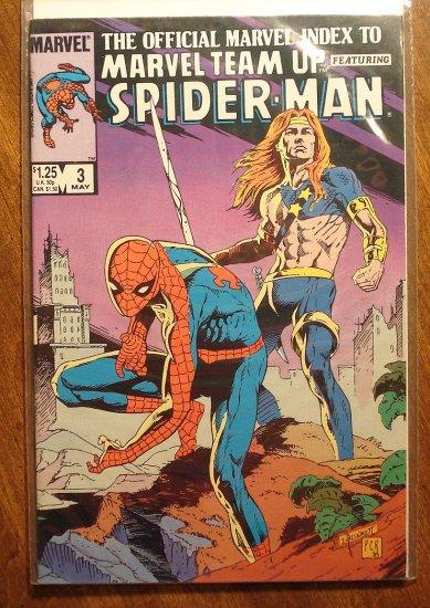 Official Marvel Index to Marvel Team-Up w/ Spider-man #3 comic book - Marvel comics
