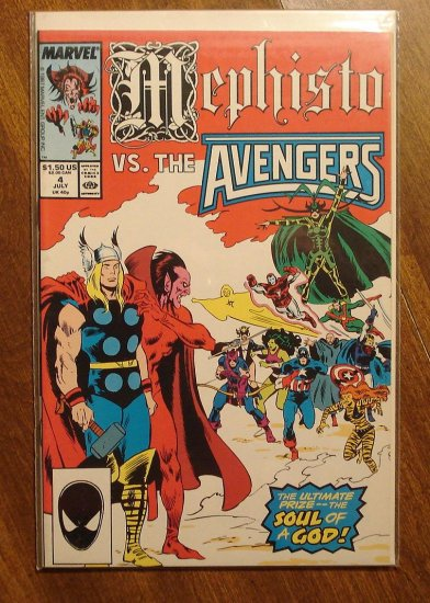 Mephisto vs. The Avengers #4 comic book - Marvel comics