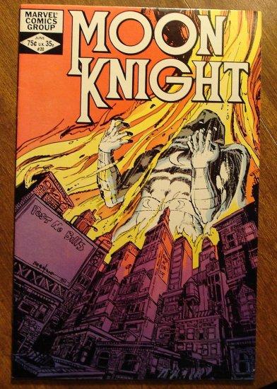 Moon Knight #20 (1980's series) comic book - Marvel Comics