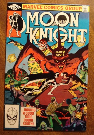 Moon Knight #11 (1980's series) comic book - Marvel Comics