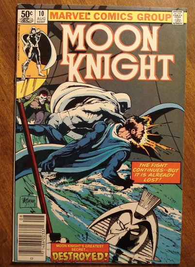 Moon Knight #10 (1980's series) comic book - Marvel Comics