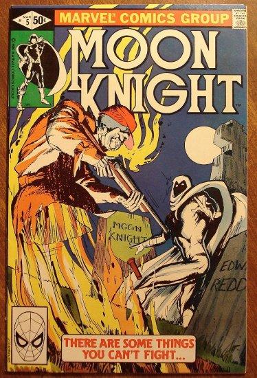 Moon Knight #5 (1980's series) comic book - Marvel Comics