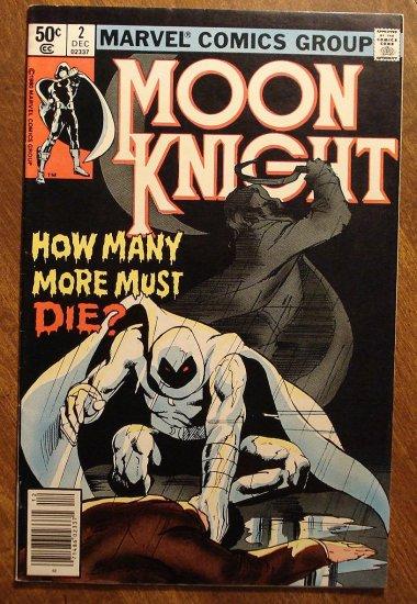 Moon Knight #2 (1980's series) comic book - Marvel Comics