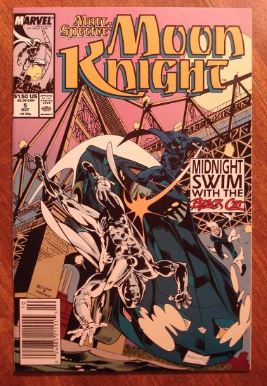 Marc Spector: Moon Knight #5 (1980's/90's series) comic book - Marvel Comics