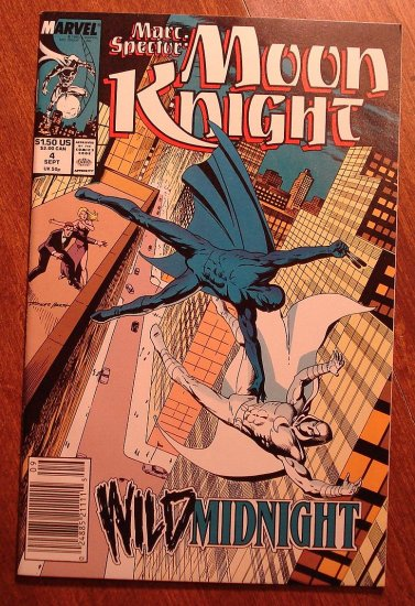 Marc Spector: Moon Knight #4 (1980's/90's series) comic book - Marvel Comics