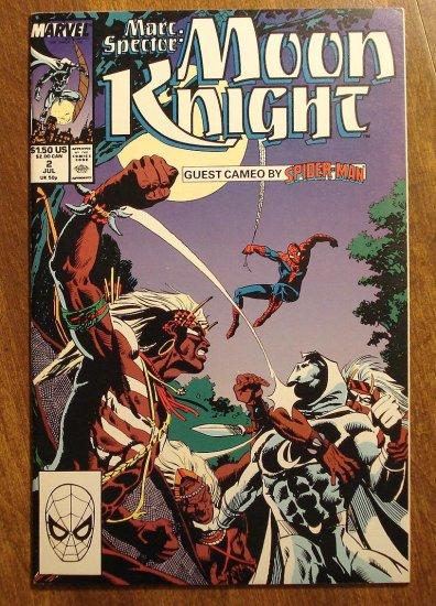 Marc Spector: Moon Knight #2 (1980's/90's series) comic book - Marvel Comics