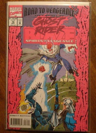 Ghost Rider & Blaze: Spirits of Vengeance #16 comic book - Marvel Comics