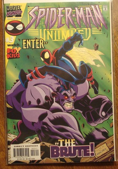 Spider-Man (spiderman) Unlimited #3 comic book (1999) - Marvel 'Animated' Comics