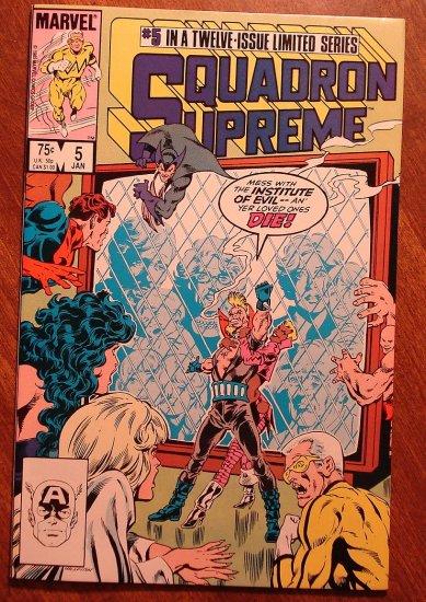Squadron Supreme #5 (1980's) comic book - Marvel Comics